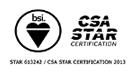 クラウドセキュリティ認証制度『STAR認証』※国内初取得